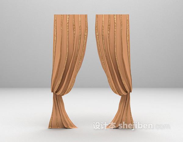 欧式窗帘模型下载
