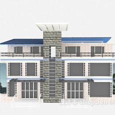 欧式别墅免费3d模型下载