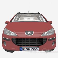红色汽车免费3d模型下载