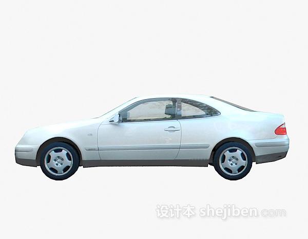 白色车3d车模型下载