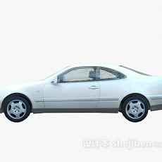 白色车车3d模型下载