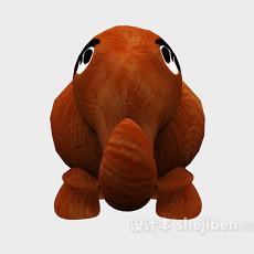 棕色的儿童玩具 3d模型下载