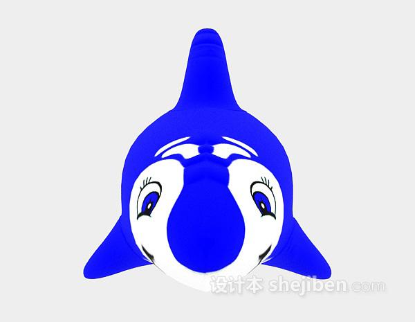 儿童模型玩具海豚3d模型下载
