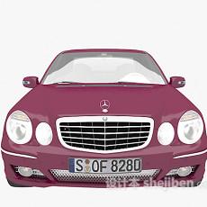 紫色汽车3d模型下载