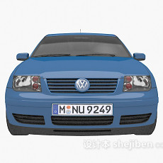 蓝色大众车的3d模型下载