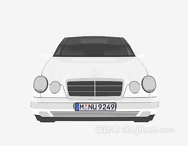 白色车辆模型3d模型免费下载