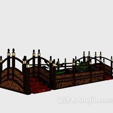 室内小桥_中式室内小桥3d模型下载-设计本3D模型下载
