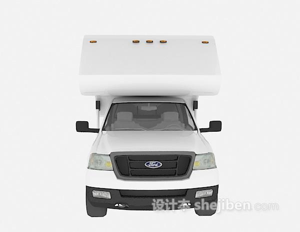 白色车3d汽车模型下载