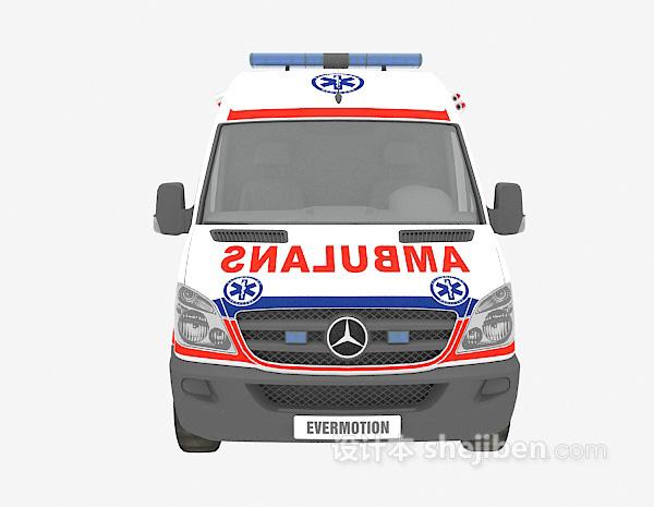 医疗救护车3d模型下载