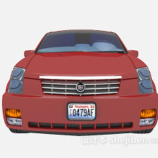 红色max汽车免费3d模型下载