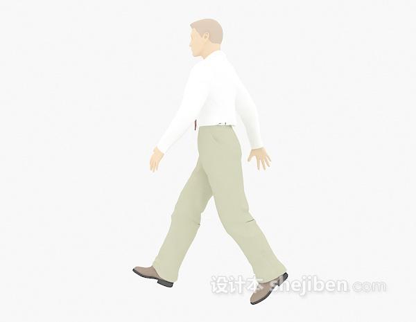 大步行走的男士3d模型下载