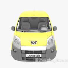 黄色快递车3d模型下载