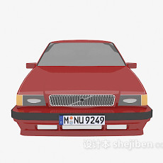 车辆红色 3d模型下载
