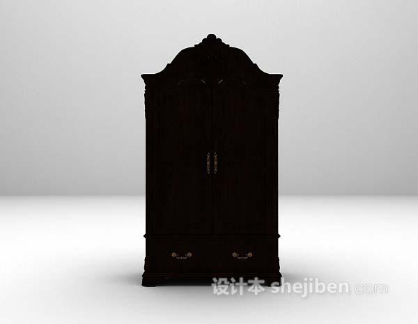 欧式衣柜3d模型下载