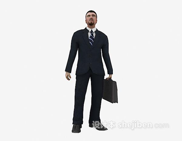 提包男士3d模型下载