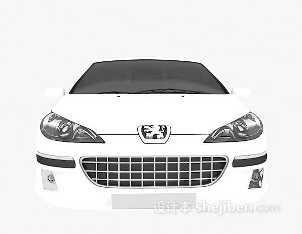 白色小车3d模型下载