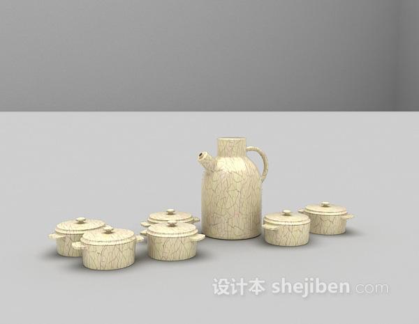陶瓷品3d模型下载