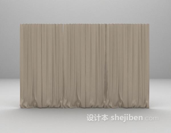 灰色幕帘3d模型下载