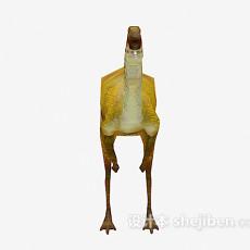 黄色恐龙3d模型下载