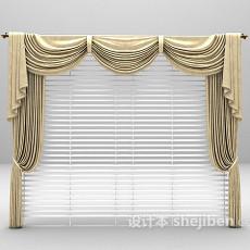 欧式窗帘max窗帘3d模型下载