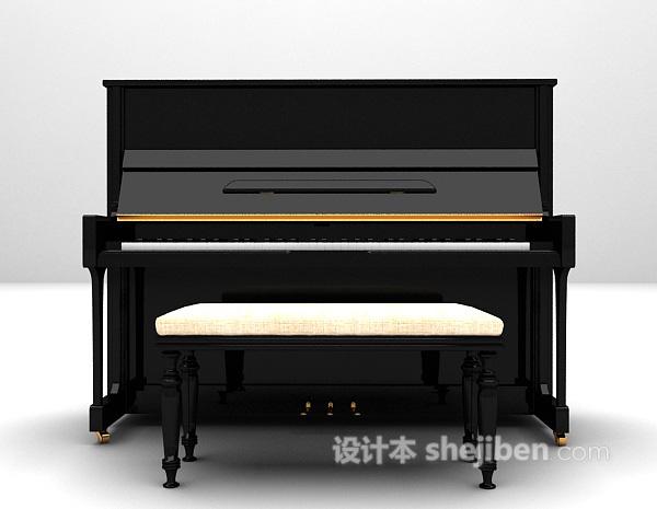 经典钢琴3d模型下载