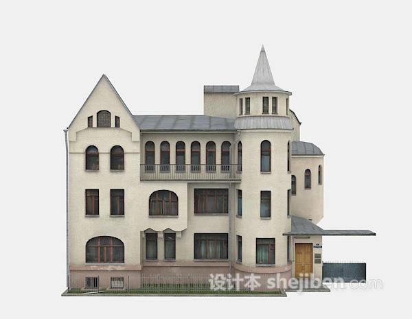 古老别墅模型3d下载