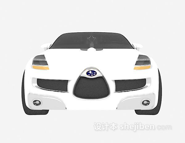 白色小车模型3d下载