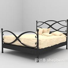 欧式铁艺床max床3d模型下载