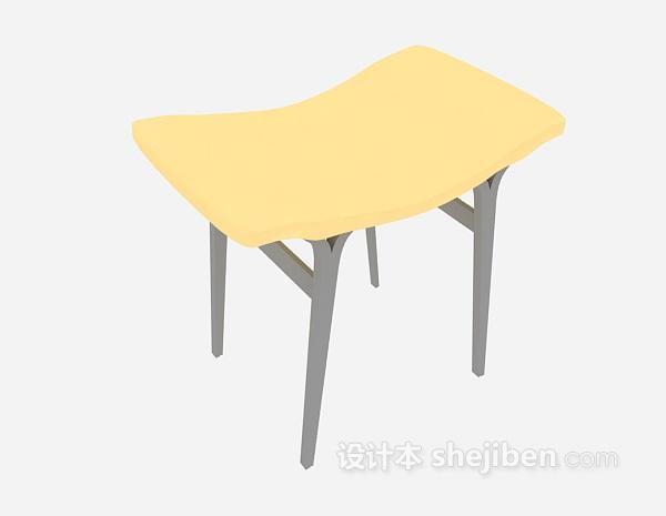 家居凳3d模型下载