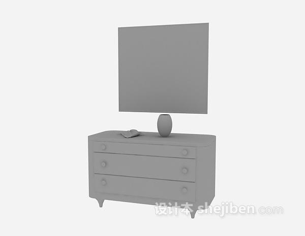 木质过道厅柜3d模型下载