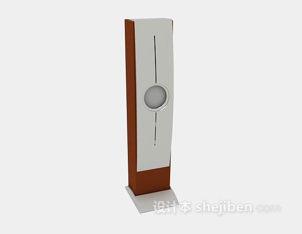 立式音箱3d模型下载