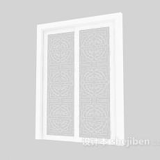 玻璃木门3d模型下载