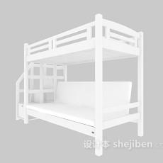 宿舍上下铺床3d模型下载