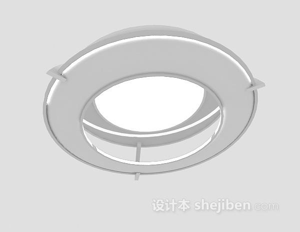 白色吊灯3d模型下载