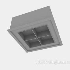 格栅灯3d模型下载
