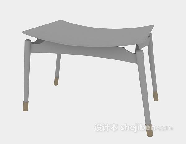 木质凳子3d模型下载