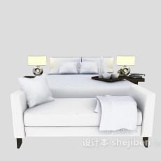 现代家庭床具3d模型下载