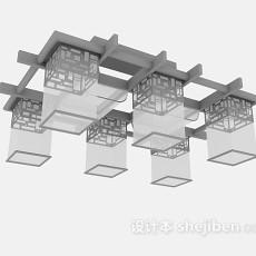 古典吊灯3d模型下载