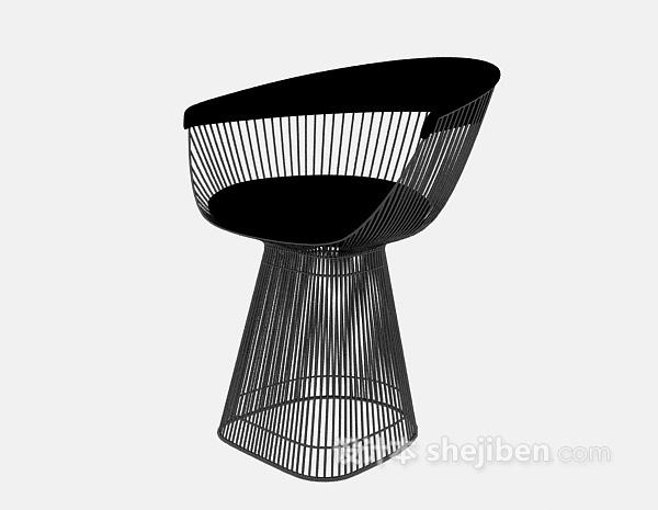 金属凳子3d模型下载