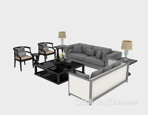家居沙发模型3d下载