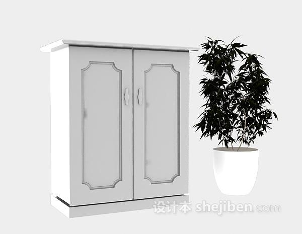 玄关柜子3d模型下载