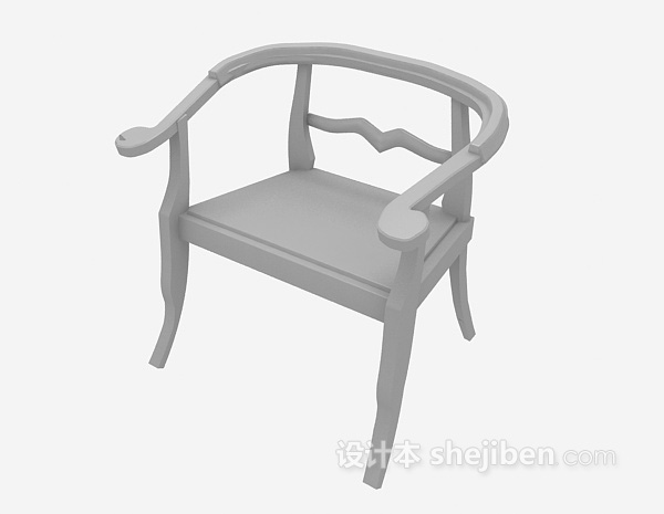 中式风格椅子3d模型下载