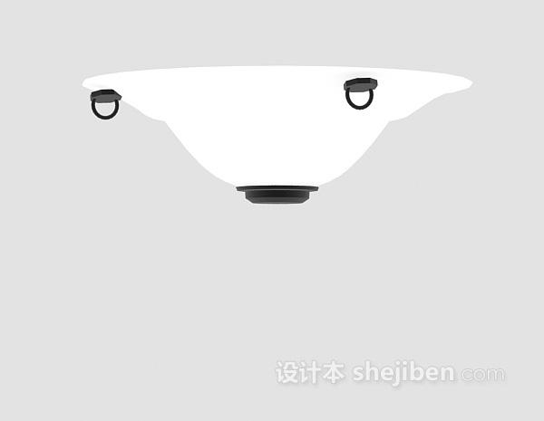白色吊顶灯3d模型下载