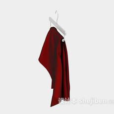 红色衣物3d模型下载