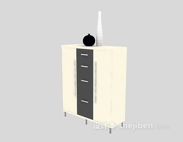 玄关柜3d模型下载