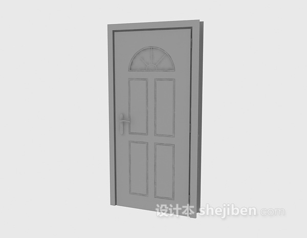 卧室门3d模型下载