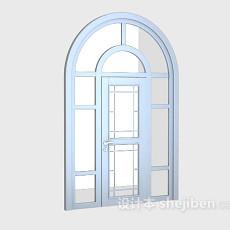 不锈钢玻璃门3d模型下载