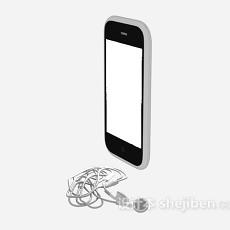 手机耳机3d模型下载
