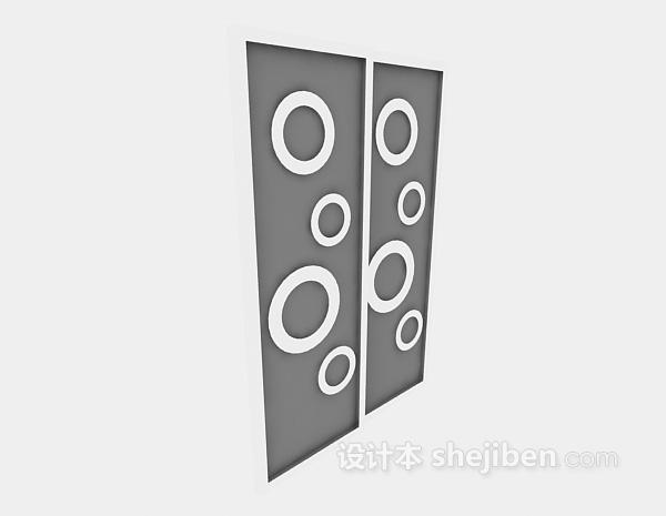 墙饰3d模型下载