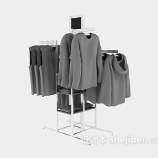 商店货架衣物3d模型下载